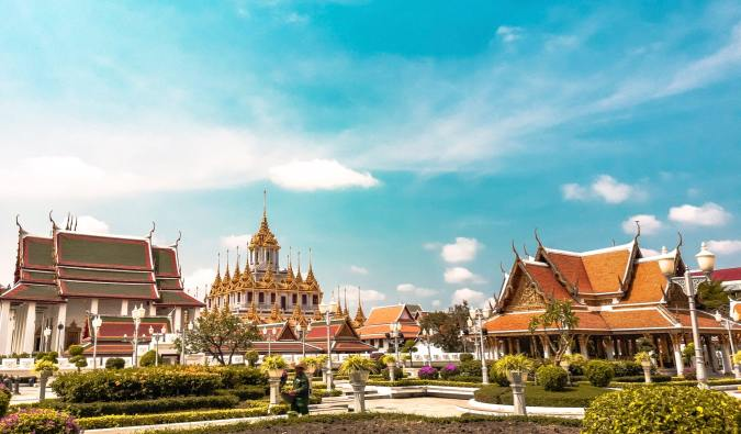 One of the many beautiful temples in Bangkok, Thailand