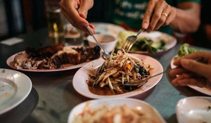 The delicious food from a Vanguard food tour in Bangkok, Thailand