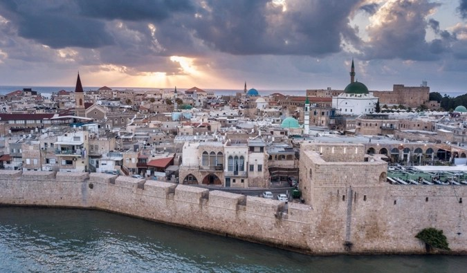 The ancient city of Acre in Israel