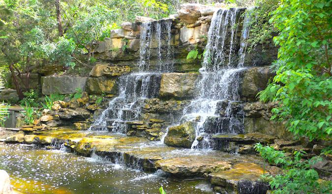Gardens in Zilker Park in Austin