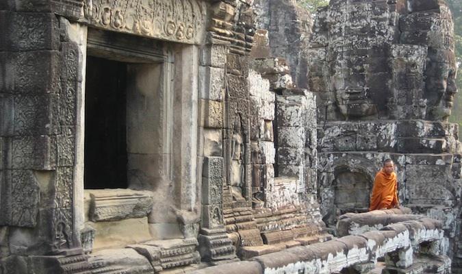 a monk at Angkor Wat Cambodia