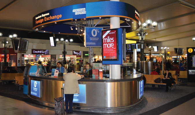 DON'T exchange money at the airport