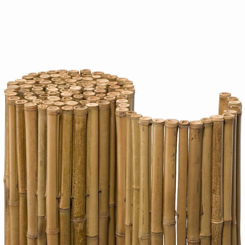 diese bambusmatte mit 24 mm durchmesser ist ein idealer sichtschutz