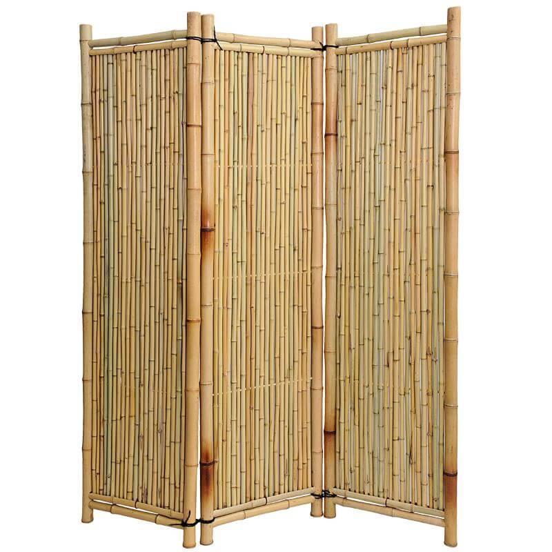 Bambus Paravent Deluxe Sichtschutz Bambusparavent
