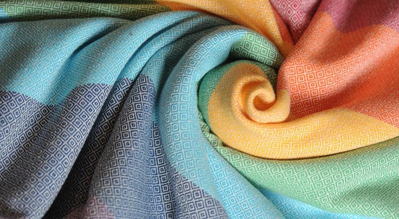 Girasol stripe Light Rainbow Diamond Weave Wrap