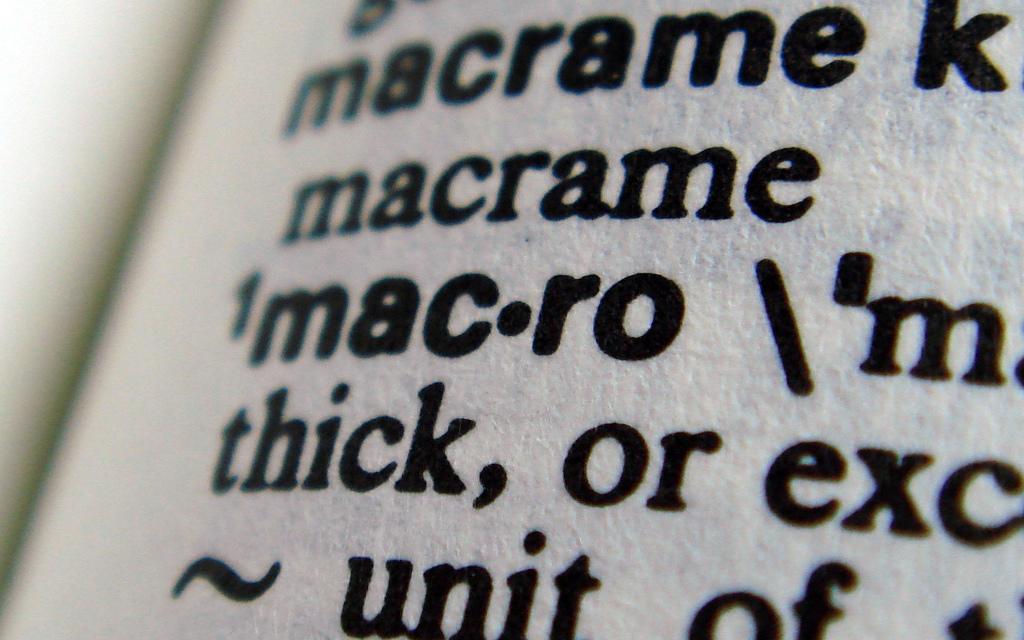 dictionary macro crop recnik nosenja
