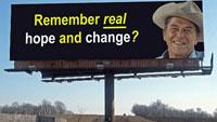 This sign appeared along I-94 near Albertville, Minn. It follows a