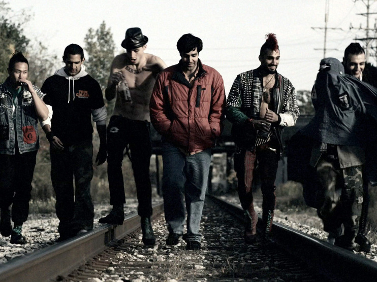 Ian Tran (from left), Nav Mann, Volkan Eryaman, Bobby Naderi, Dominic Rains, Noureen DeWulf and Tony Yalda