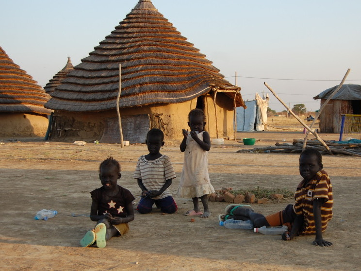 Huts like these, called tukels, were burned by Sudanese government soldiers in an attack in Abyei.