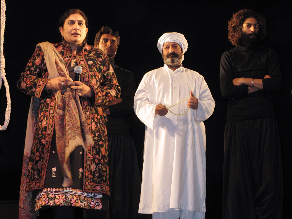 """The Ajoka Theater performs a play about blasphemy titled """"Watch the Play and Move On."""" In the anti-secular atmosphere following the assassination of governor Salman Taseer, the staging of the play is a rare example of secular society standing up against the intimidation of religious extremists."""