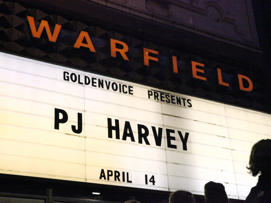 PJ Harvey recently performed at the Warfield Theater in San Francisco on April 14.