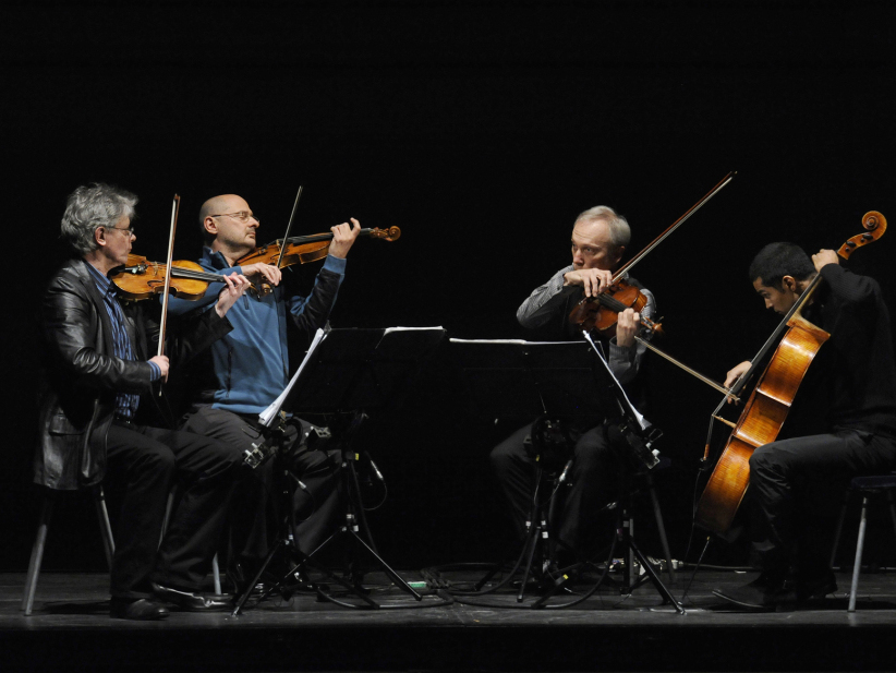 The Kronos Quartet plays Steve Reich's 'WTC 9/11.'