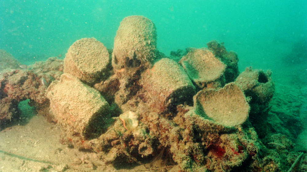 Under The Sea: Ewers and ceramic fragments thought to be more than 1,000 years old were found on a sunken merchant ship off the coast of Belitung Island, Indonesia, in 1998.