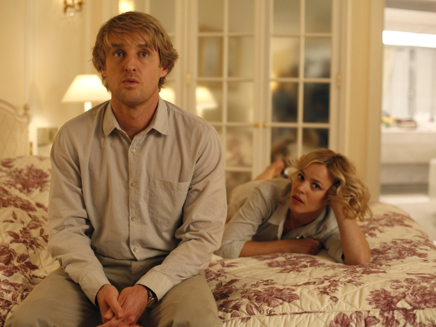 Owen Wilson, playing the time-traveling hero Gil, wants to write novels instead of movies, much to the horror of his fiancee Inez, played by Rachel McAdams.