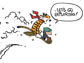 An artist's rendering of the original Calvin and Hobbes characters, which were created by Bill Watterson.