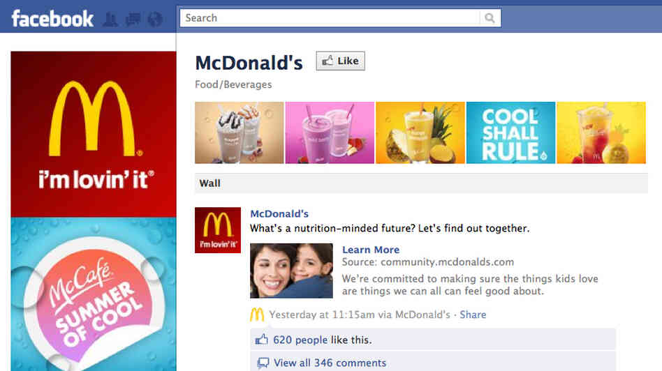 Image result for mcdonald s facebook page
