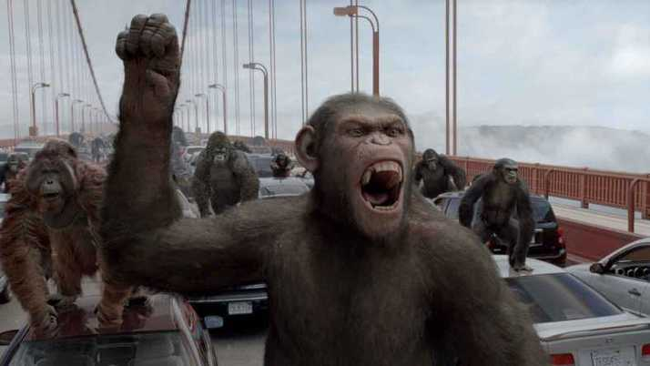 Super Monkey Brawl: Caesar (Andy Serkis) leads his army of apes in a revolt against the humans, who imprison his kind for use in drug experiments. The motion-captured CGI primates are all the creepier for walking too fine a line between reality and special effect.