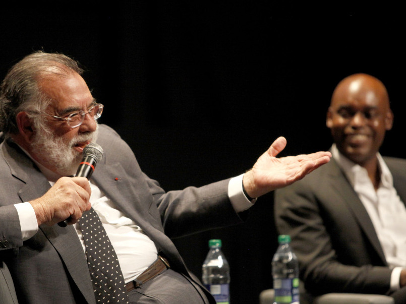 Peter Bregg/Getty Images  Coppola and Cameron Bailey, co-director of the Toronto International Film Festival, chat about Coppola's career during an event at this year's festival.