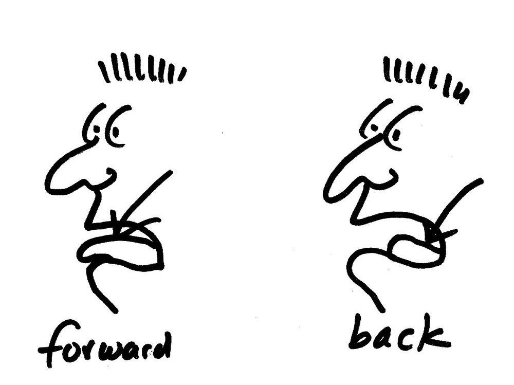 Forward vowels vs. back vowels