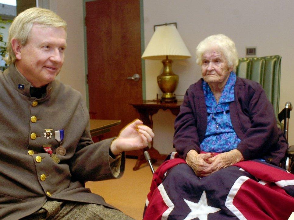The last known Civil War widow, Alberta Martin, in a nursing home in Enterprise, Ala., on Monday April 7, 2003.