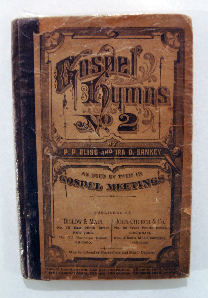 """Harriet Tubman's hymnal — with her name written on the inside cover — """"is one of the great treasures of the museum,"""" says director Lonnie Bunch."""