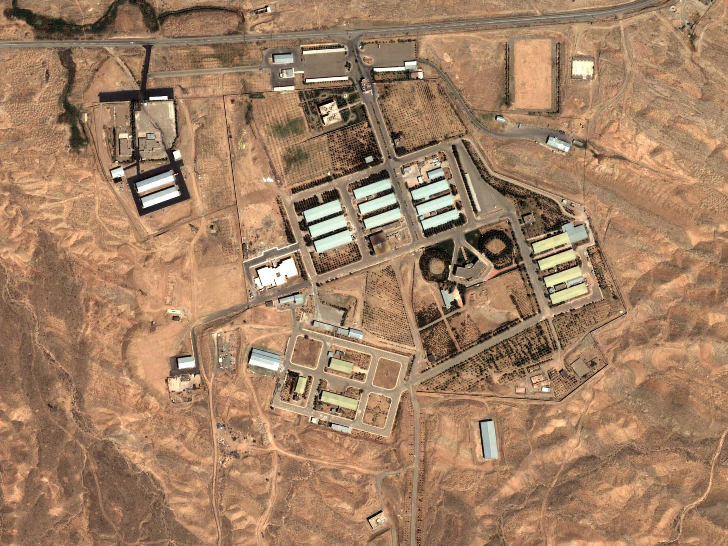One Iranian site of particular interest to U.S. intelligence officials is the military complex at Parchin, about 20 miles southeast of the capital, Tehran. The complex is shown here in a 2004 satellite image.