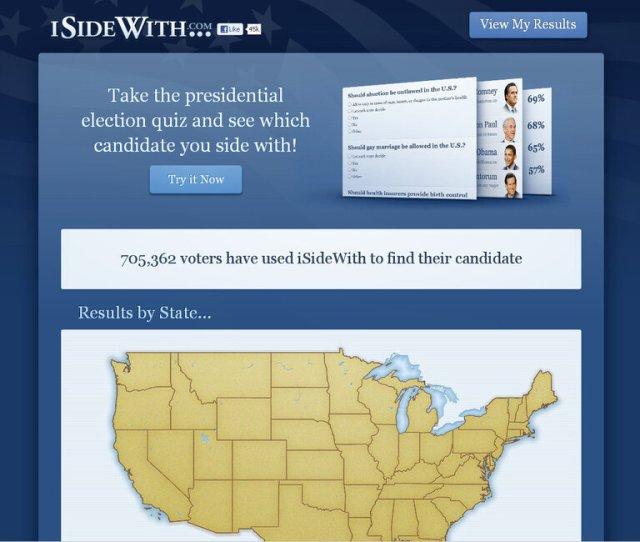 Isidewith Com Screenshot