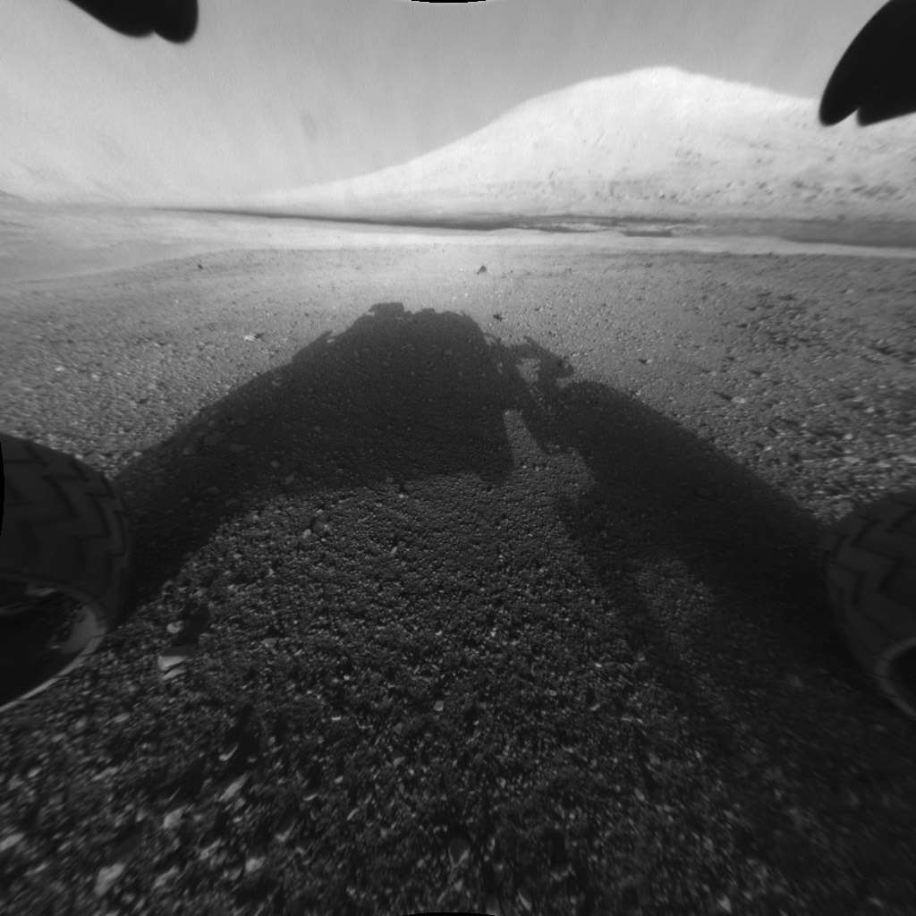 This image taken by NASA's Curiosity shows what lies ahead for the rover — its main science target, Mount Sharp.