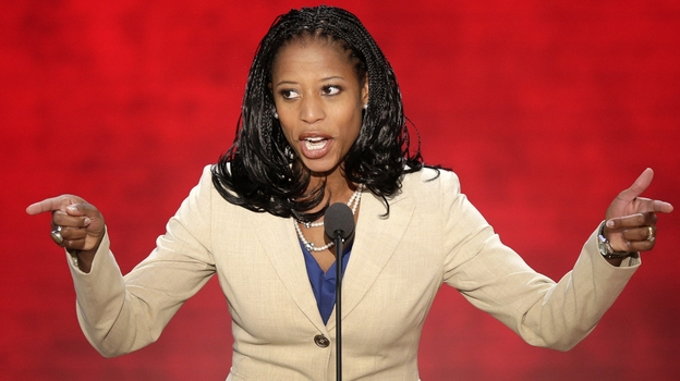 Mia Love, the Mayor of Saratoga Springs, Utah, addresses the Republican National Convention in Tampa, Fla., on Tuesday.