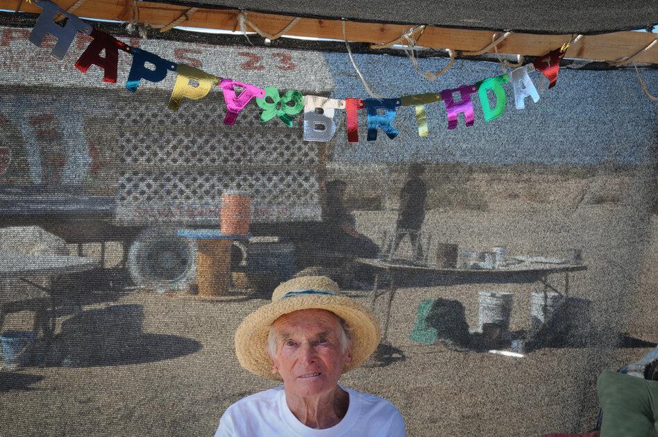 Leonard Knight. An artist. Seen at his 80th birthday celebration.