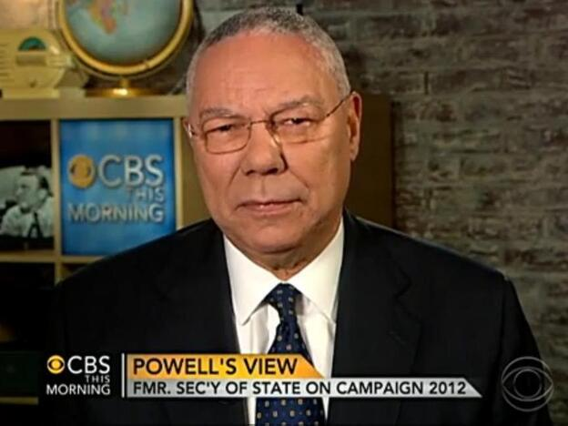 Former Secretary of State Colin Powell on CBS This Morning earlier today.