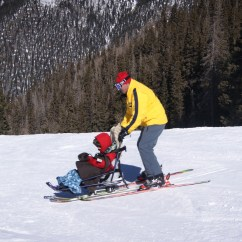 Wheelchair Skiing Hot Pink Spandex Chair Covers With Adaptive Disabled People No Longer Left Out