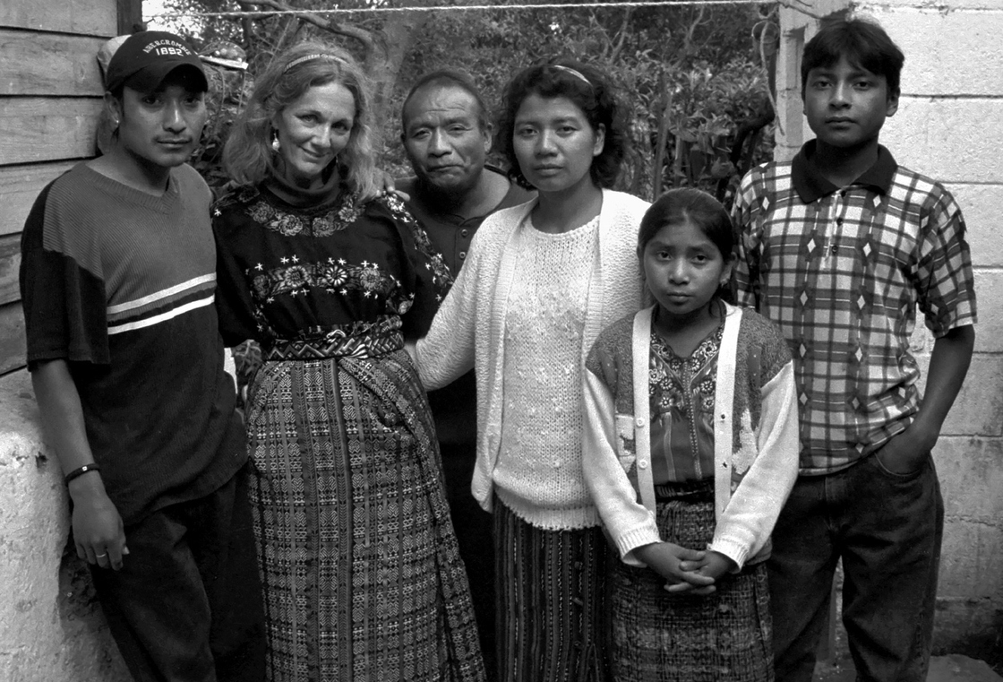 Donna De Cesare (second from left) and the family of Carlos Perez, who took the photograph. De Cesare met Perez when he was 18 years old and was involved with gangs, and they became close friends. He became her photo assistant, slowly eased out of gang life and is now a working artist.