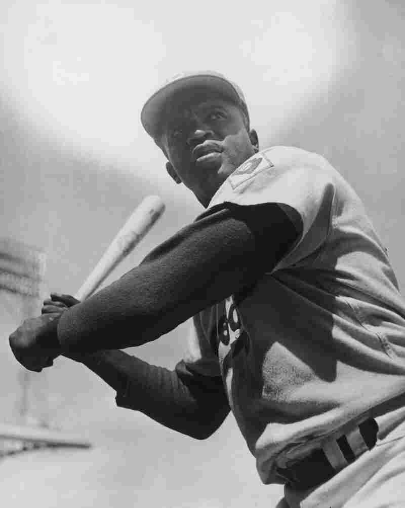 Jackie Robinson Taking Picture Uniform