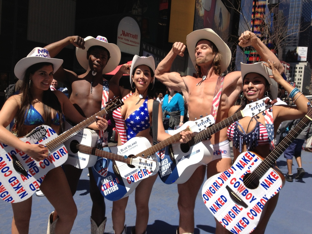Times Square S Naked Cowboy Wrangles Some Co Workers Npr