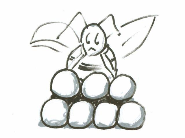 Bee on spheres