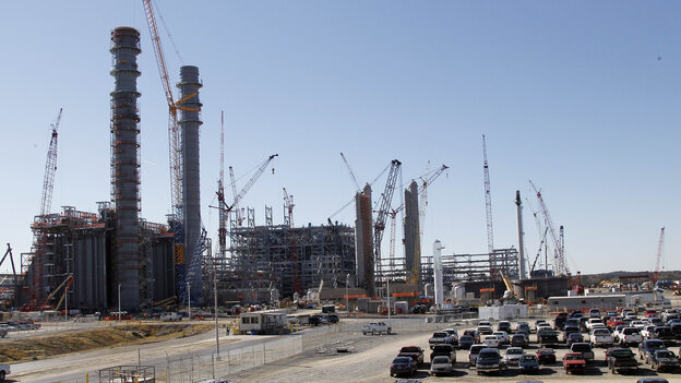 Mississippi Power's Kemper County energy facility near DeKalb, Miss., seen under construction on Nov. 13, 2012. Carbon dioxide will be captured from this plant and used to stimulate production of oil from existing wells.