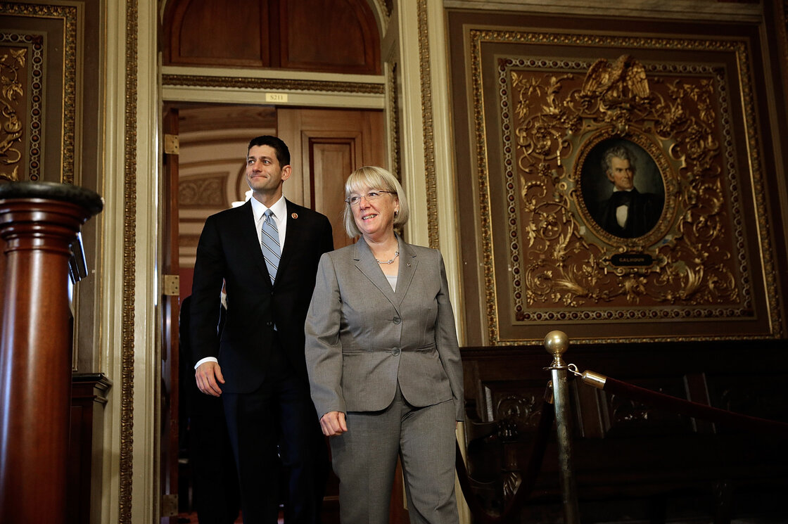 Rep. Paul Ryan, R-Wis., and Sen. Patty Murray, D-Wash., differ in style and ideology but show signs of having a good working relationship.