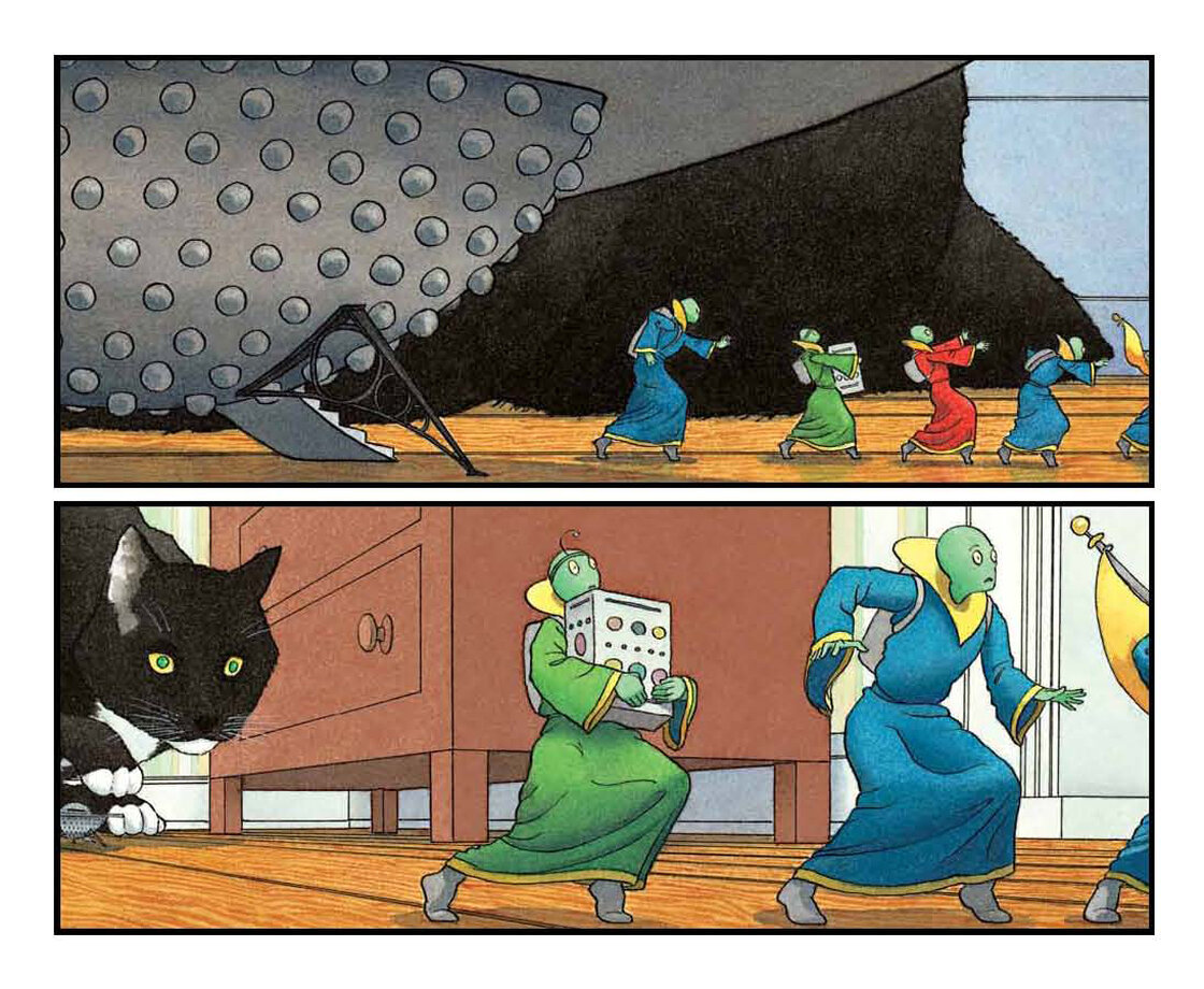 Excerpted from Mr. Wuffles! by David Wiesner. Copyright 2013 by David Wiesner. Excerpted by permission of Clarion Books.