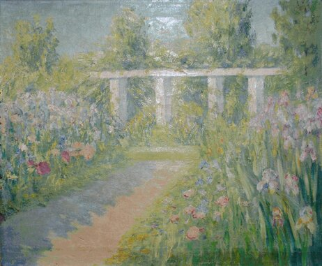 The GSA recovered Anne Fletcher's Iris Garden after its then-owner watched an episode of PBS's Antiques Roadshow and realized the painting was actually a WPA piece.