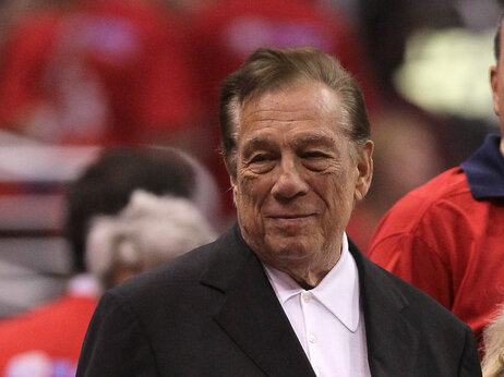 Los Angeles Clippers' owner Donald Sterling stands on the sidelines before the game against the Memphis Grizzlies in 2012.