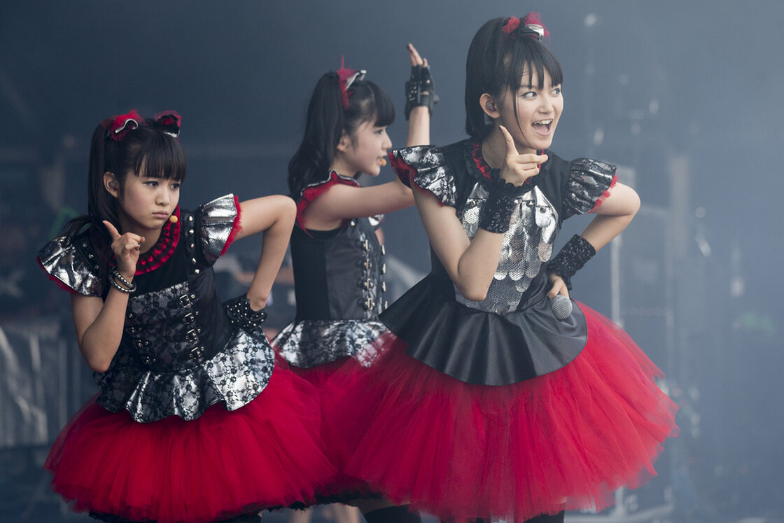 Babymetal perform during the first day of the 2014 Heavy Montreal festival.