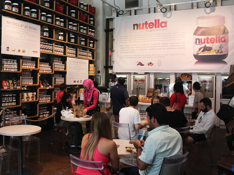 Right off Fifth Avenue, in Midtown Manhattan, Eataly has set up a shrine to Nutella.