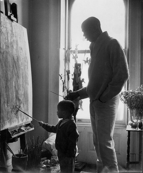 Geoffrey Holder and his son, Leo.