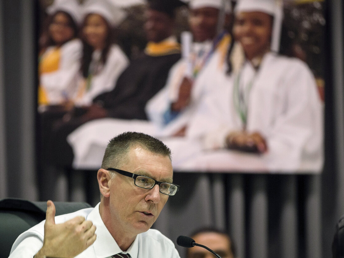 "Los Angeles Unified School District Superintendent John Deasy, seen in a photo taken last year, says his resignation Thursday was ""by mutual agreement."""