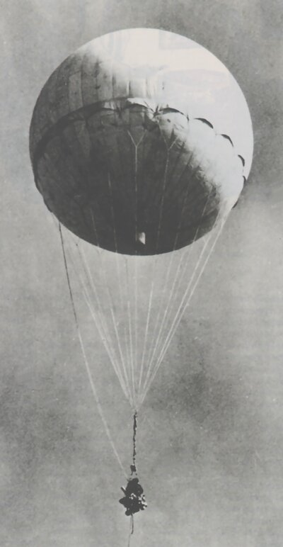 The Japanese balloon bomb, in all its terrible splendor.