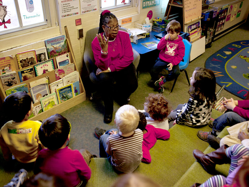 "Carolyn Barnhardt teaches her prekindergarten students a song about Rev. Martin Luther King Jr. She knows some might question how deeply 4- and 5-year-olds can comprehend this history, but she says, ""I think they understand."""