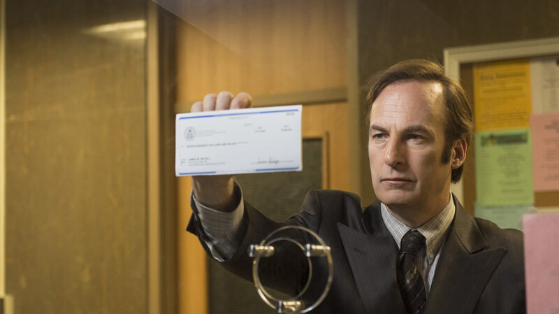 "Bob Odenkirk as Saul Goodman on AMC's ""Better Call Saul."""