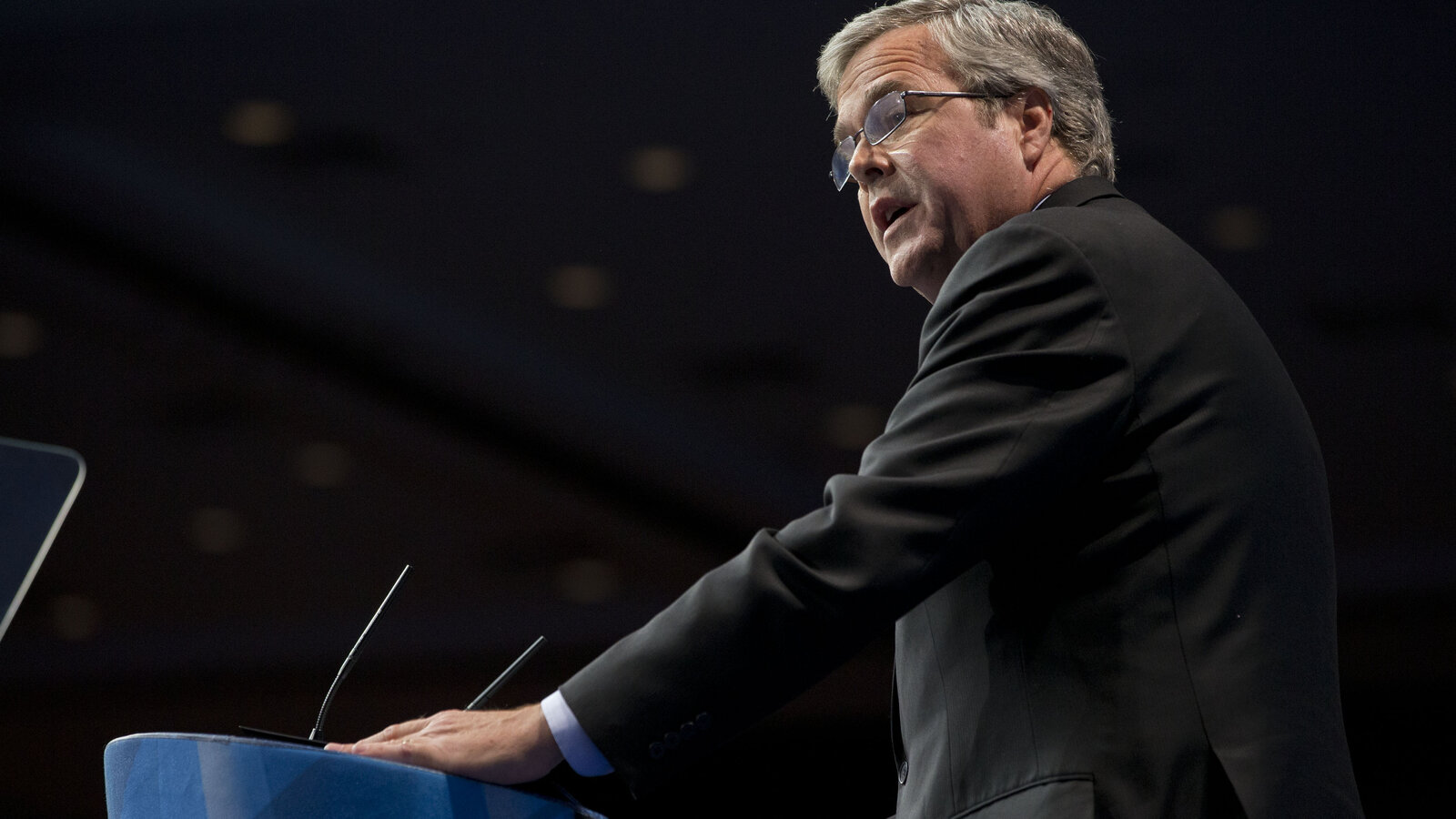 Former Florida Gov. Jeb Bush addresses the audience at his last Conservative Political Action Conference appearance in March 2013. Bush is to appear again Friday, as he considers a potential 2016 presidential campaign.