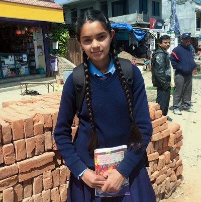 Devaki Raut, 16, says reading makes her happy.